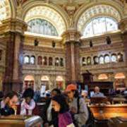Library Of Congress, Main Reading Room, Jefferson Building - 2 Art Print