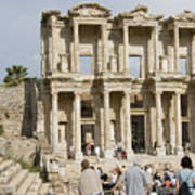 Library Ruins At Ephesus Turkey Art Print