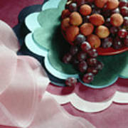 Lichees And Grapes Art Print