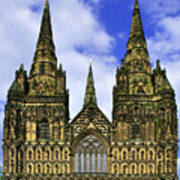 Lichfield Cathedral - The West Front Art Print
