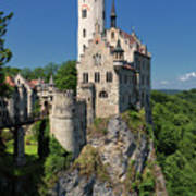 Lichtenstein Castle Art Print by Yair Karelic