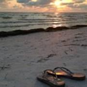 Lido Beach Sandals Art Print
