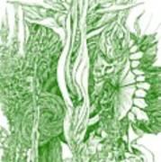 Life Force  - Green Art Print