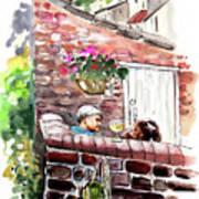 Life In Robin Hoods Bay Art Print