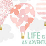 Life Is An Adventure Pink- Art By Linda Woods Art Print