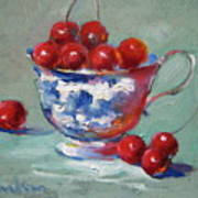 Life Is Just A Cup Of Cherry Art Print
