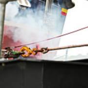 Lifeboat Chocks Away  Art Print by Terri Waters