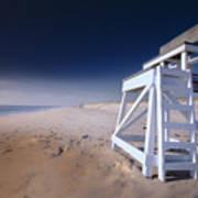 Lifeguard Chair - Nauset Beach Art Print by Dapixara Art
