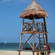 Lifeguard Chair - Riviera Maya Mexico Art Print