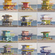 Lifeguard Houses Art Print
