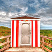 Lifeguard Hut Art Print