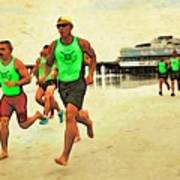 Lifeguard Runners Art Print