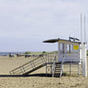 Lifeguard Station At Skegness Art Print