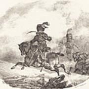 Light Artillery Officer Of The  Imperial Guard (officier D'artillerie Legerie De La  Garde Imperiale) Art Print