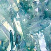 Light Blue Crystals Art Print