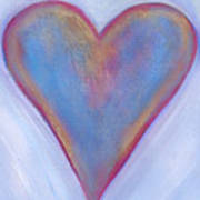 Light Blue Heart Art Print