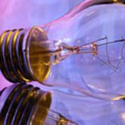 Light Bulb - Multi Color Art Print
