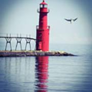Red Lighthouse Art Print