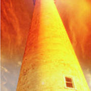 Light House At Sunset, Cape May, Nj Art Print