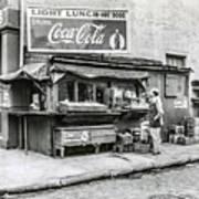 Light Lunch - Hot Dogs - Coca Cola Art Print
