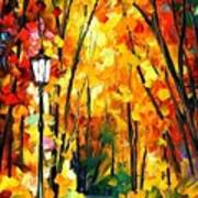 Light Of The Forest - Palette Knife Oil Painting On Canvas By Leonid Afremov Art Print