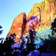 Light On Cliffs Art Print
