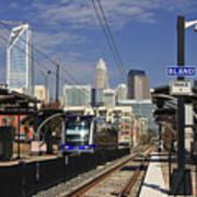 Light Rail In Charlotte Art Print
