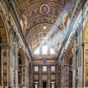 Light Rays In St Peter's, Rome Art Print