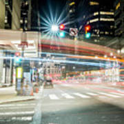 Light Trails On 17th And Market Art Print