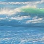 Light Wave at Asilomar, Pacific Grove, California Art Print