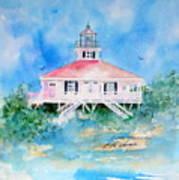 Lighthouse At Boca Grand Island Fl Art Print