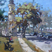 Lighthouse At Fort Niagara Art Print