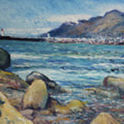 Lighthouse At Kalk Bay Cape Town South Africa 2016 Art Print