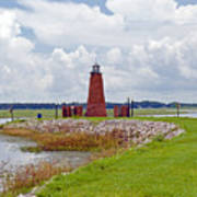 Lighthouse At Port Kissimmee On Lake Tohopekaliga In Central Florida   Art Print