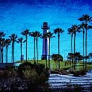 Lighthouse, Blue Lb Art Print
