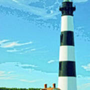 Lighthouse Bodie Island Art Print