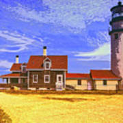 Lighthouse Cape Cod Art Print