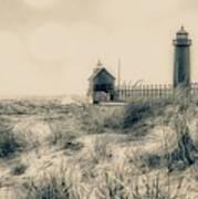 Lighthouse Fade Art Print