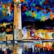 Lighthouse In Crete Art Print