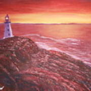 Lighthouse In Newfoundland Art Print