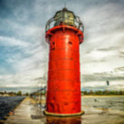 Lighthouse In South Haven Art Print