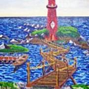 Lighthouse Island Art Print