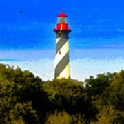 Lighthouse Of Saint Augustine Art Print