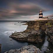Lighthouse On Cliffs Art Print