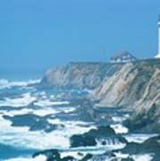 Lighthouse On The California Coast Art Print