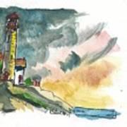 Lighthouse On The Hill Art Print