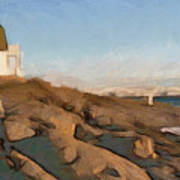 Lighthouse On The Ocean Art Print