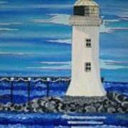 Lighthouse On The Shannon Art Print