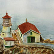 Lighthouse Point Reyes California Art Print
