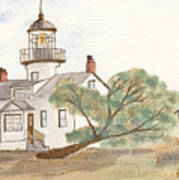 Lighthouse Sketch Art Print
